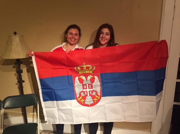 Team Serbia w flag